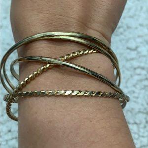 5 gold Bangles
